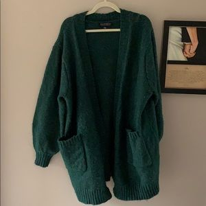 Eloquii hunter green Sweater Coat